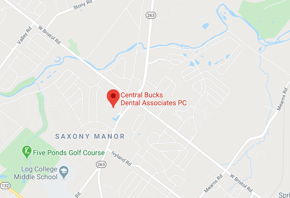 Map of Central Bucks Dental Associates